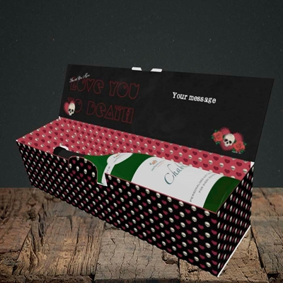 Picture of Love You To Death(Without Photo), Valentine's Design, Lay-down Bottle Box