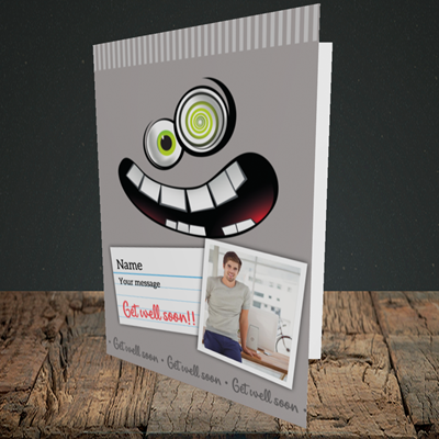 Picture of Mad, Get Well Soon Design, Portrait Greetings Card