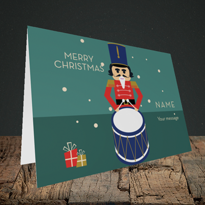 Picture of Drummer Boy(Without Photo), Christmas Design, Landscape Greetings Card