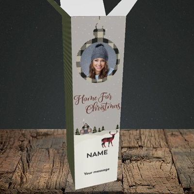 Picture of Home For Christmas, Christmas Design, Upright Bottle Box