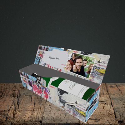 Picture of Graffiti, Birthday Design, Lay-down Bottle Box