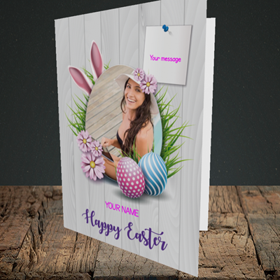 Picture of Grass, Easter Design, Portrait Greetings Card