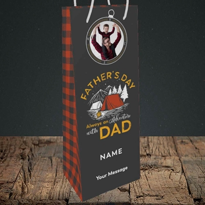Picture of Adventure With Dad, Father's Day Design, Bottle Bag