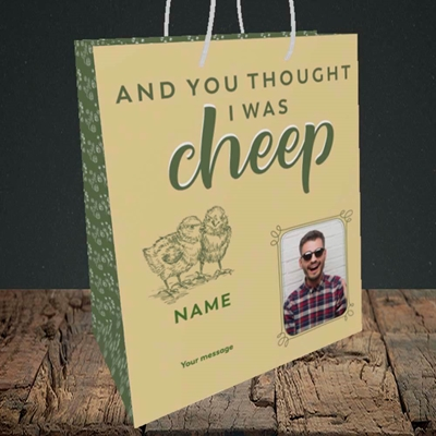 Picture of Cheep, Easter Design, Medium Portrait Gift Bag