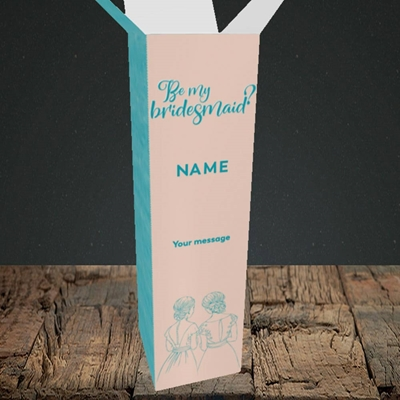Picture of Be My Bridesmaid(Without Photo), Wedding Design, Upright Bottle Box