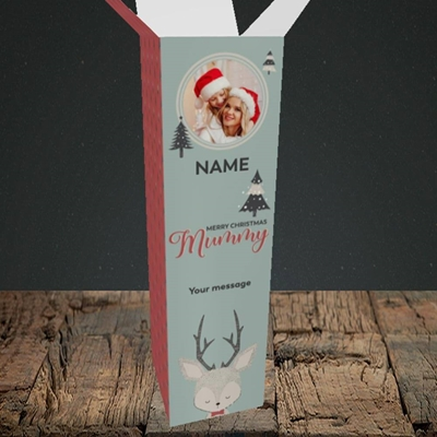 Picture of Mummy Deer, Christmas Design, Upright Bottle Box