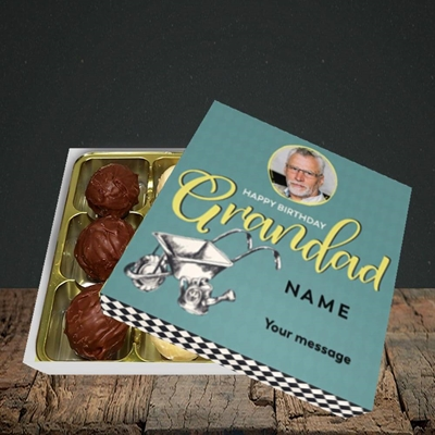 Picture of Grandad Gardening, Birthday Design, Choc 9