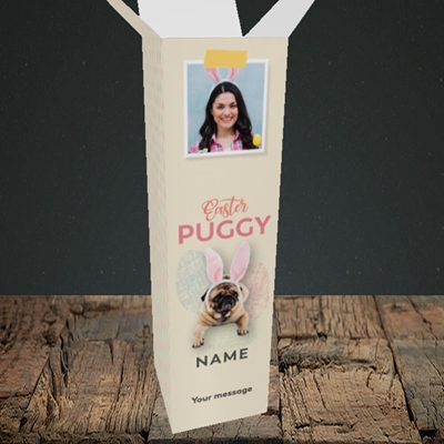 Picture of Easter Puggy, Easter Design, Upright Bottle Box