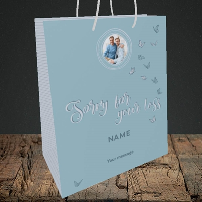 Picture of Butterflies, Thinking of You Design, Medium Portrait Gift Bag
