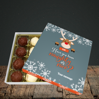 Picture of Naughty, (Without Photo) Christmas Design, Choc 16