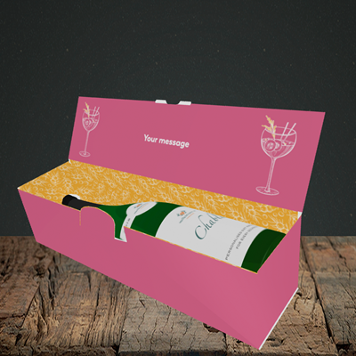 Picture of Gin To My Tonic, (Without Photo) Mother's Day Design, Lay-down Bottle Box