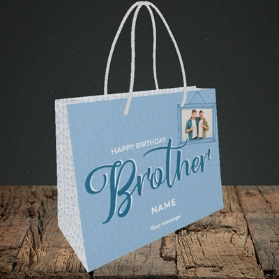 Picture of Brother, Birthday Design, Small Landscape Gift Bag