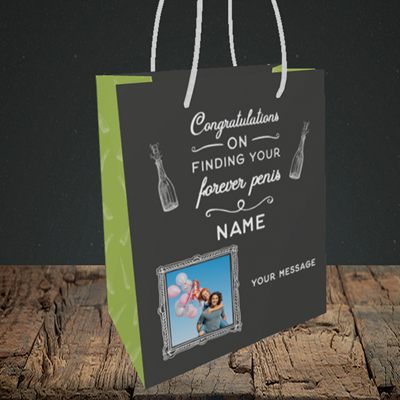 Picture of Forever, Engagement Design, Small Portrait Gift Bag