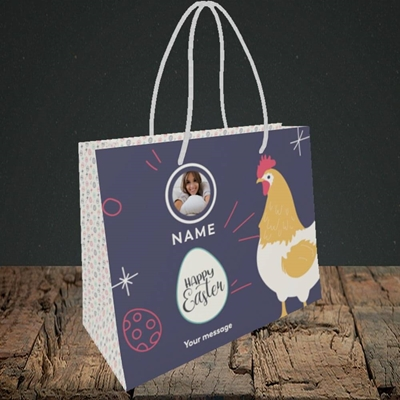 Picture of Easter Hen, Easter Design, Small Landscape Gift Bag