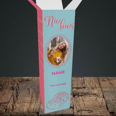 Picture of Nice Buns, Easter Design, Upright Bottle Box