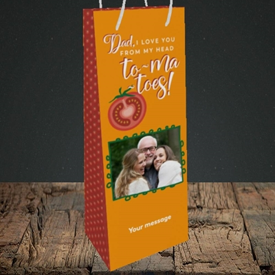 Picture of Tomatoes, Father's Day Design, Bottle Bag