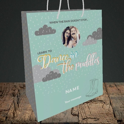 Picture of Puddles, Thinking of You Design, Medium Portrait Gift Bag