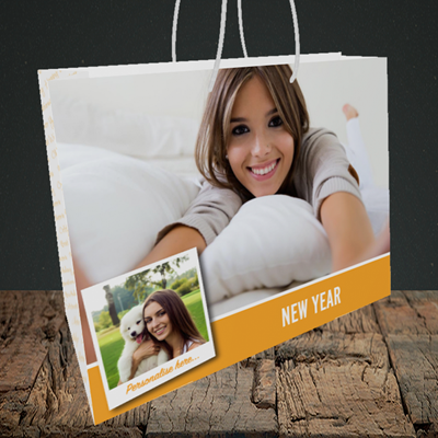 Picture of Photo, New Year Design, Medium Landscape Gift Bag