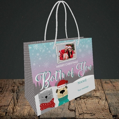 Picture of Both Of You, Christmas Design, Small Landscape Gift Bag