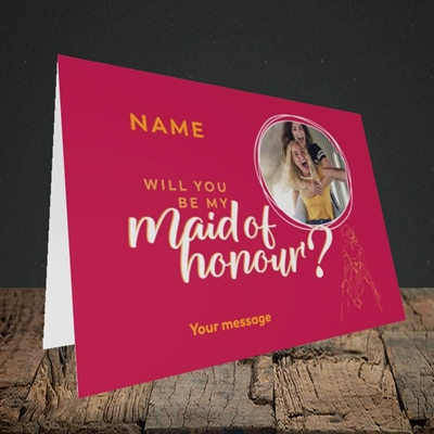 Picture of Maid Of Honour, Wedding Design, Landscape Greetings Card