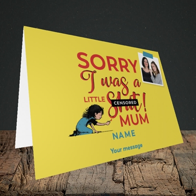 Picture of Little Sh*t, Mother's Day Design, Landscape Greetings Card
