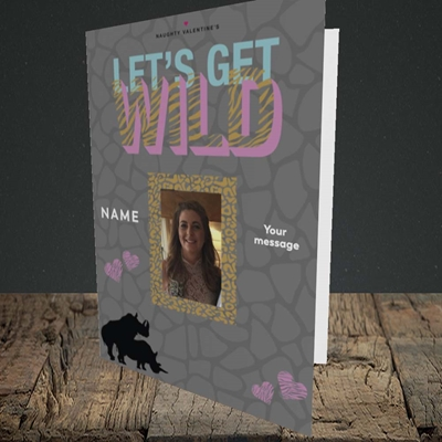 Picture of Let's Get Wild, Valentine's Design, Portrait Greetings Card