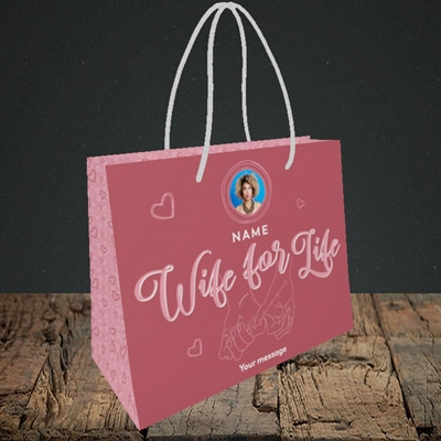 Picture of Wife For Life, Anniversary Design, Small Landscape Gift Bag