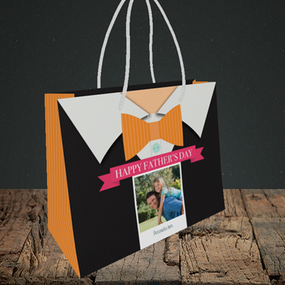 Picture of Bowtie, Father's Day Design, Small Landscape Gift Bag