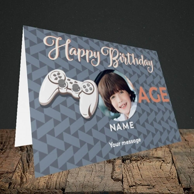 Picture of Gaming Control, Birthday Design, Landscape Greetings Card