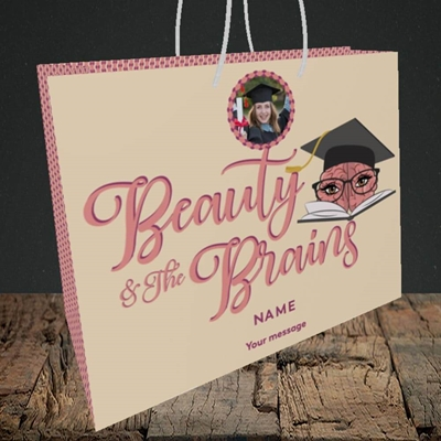 Picture of Beauty & The Brain, Graduation Design, Medium Landscape Gift Bag
