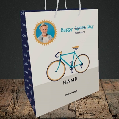 Picture of Lycra Day, Father's Day Design, Medium Portrait Gift Bag