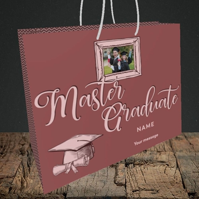 Picture of Master Graduate, Graduation Design, Medium Landscape Gift Bag