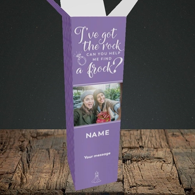Picture of Got The Rock, Wedding Design, Upright Bottle Box