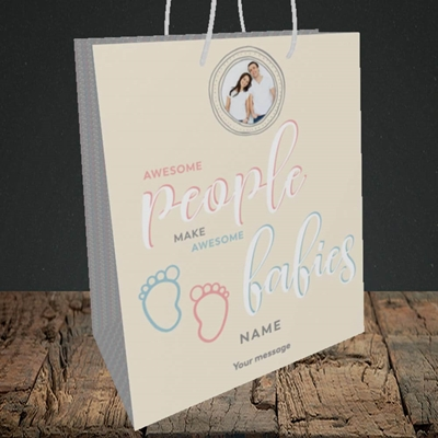 Picture of Awesome Babies, New Baby Design, Medium Portrait Gift Bag