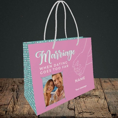 Picture of Dating Goes Too Far, Wedding Design, Small Landscape Gift Bag