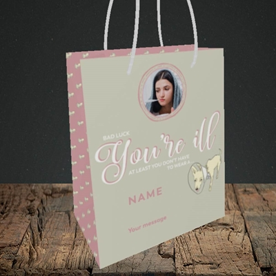 Picture of Neck Cone, Get Well Soon Design, Small Portrait Gift Bag