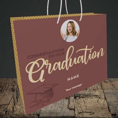 Picture of Your Graduation, Graduation Design, Medium Landscape Gift Bag