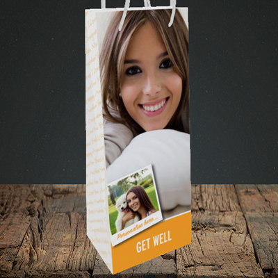 Picture of Photo, Get Well Soon Design, Bottle Bag