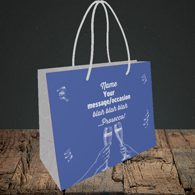 Picture of Blah, (Without Photo) Birthday Design, Small Landscape Gift Bag