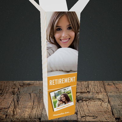 Picture of Photo, Retirement Design, Upright Bottle Box