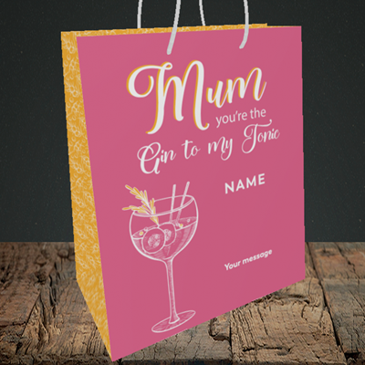 Picture of Gin To My Tonic, (Without Photo) Medium Portrait Gift Bag