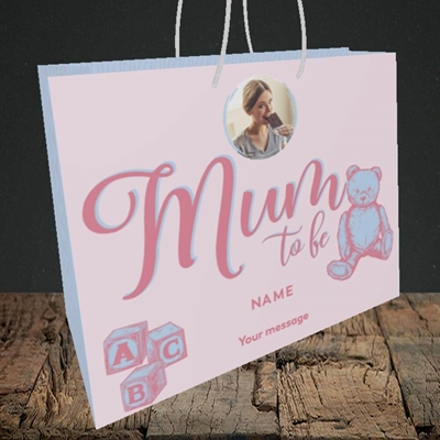 Picture of Mum To Be, Pregnancy Design, Medium Landscape Gift Bag