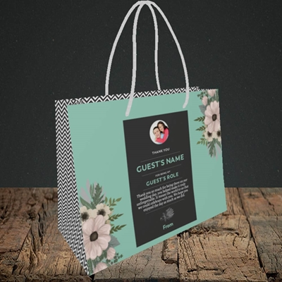 Picture of Flowers Green SG, Wedding Design, Small Landscape Gift Bag