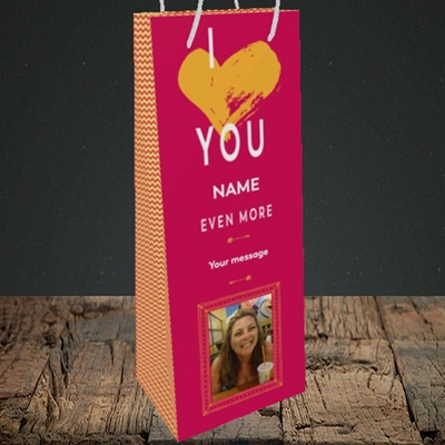 Picture of Love You Even More, Anniversary Design, Bottle Bag