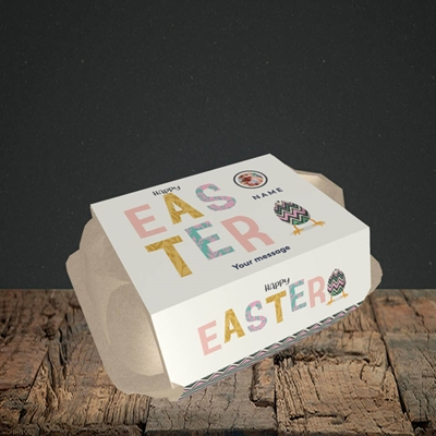 Picture of Happy Walking Egg, Easter Design, 6 Egg Box