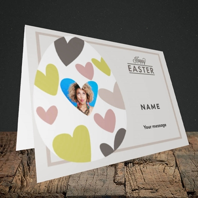 Picture of Egg Of Hearts, Easter Design, Landscape Greetings Card