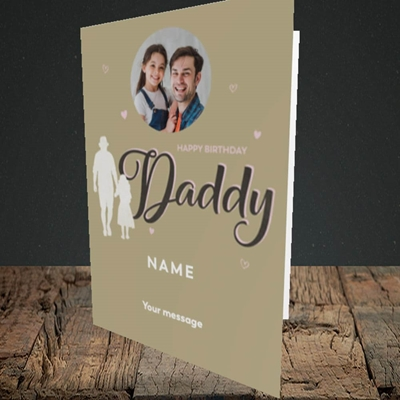 Picture of Daddy & Daughter, Birthday Design, Portrait Greetings Card