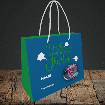 Picture of World's Greatest Farter, Father's Day Design, Small Landscape Gift Bag