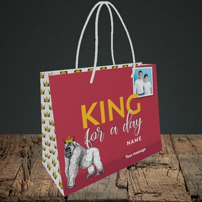 Picture of King For A Day, Father's Day Design, Small Landscape Gift Bag