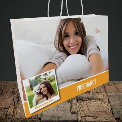Picture of Photo, Pregnancy Design, Medium Landscape Gift Bag